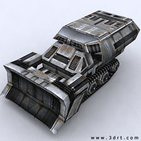 3ds max sci-fi utility vehicle