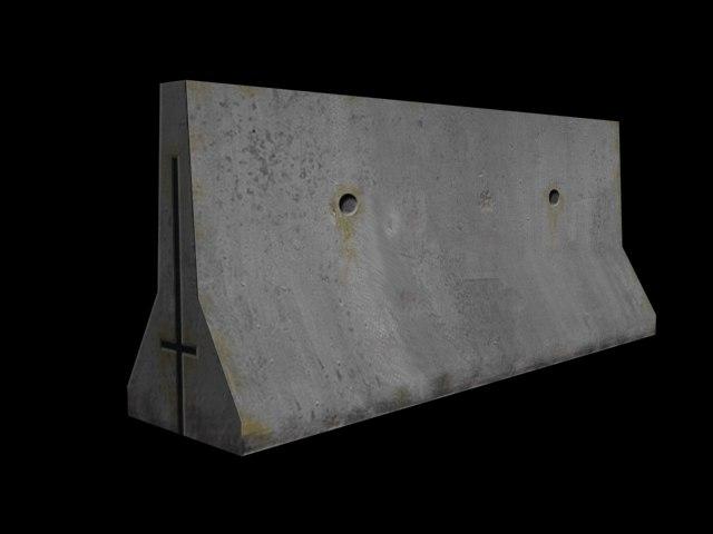 free 3ds mode concrete barrier