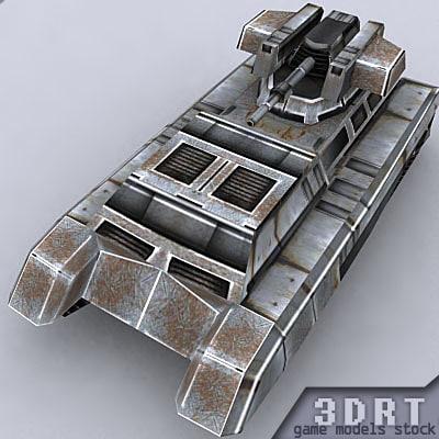 3d model of sci-fi apc