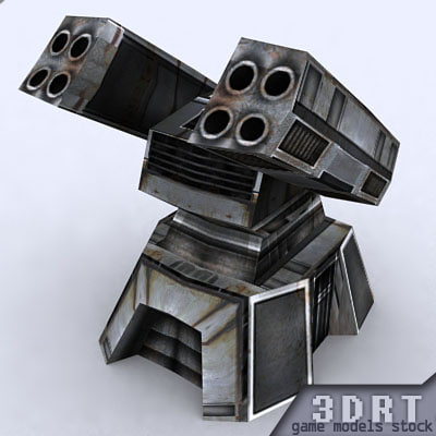 sci-fi turret 3d 3ds