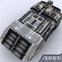 3d sci-fi vehicle model