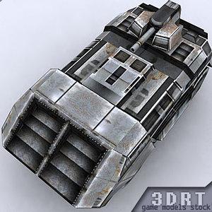 3d sci-fi vehicle model