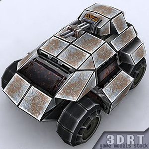 3ds max sci-fi apc vehicle