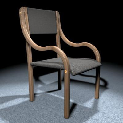 3d model of chair realistic