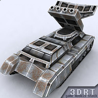 3d 3ds sci-fi apc vehicle