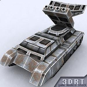 3d 3ds sci-fi apc vehicle