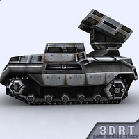 3d sci-fi apc vehicle