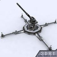 3d sci-fi artillery