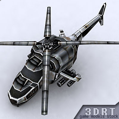 3dsmax sci-fi helicopter