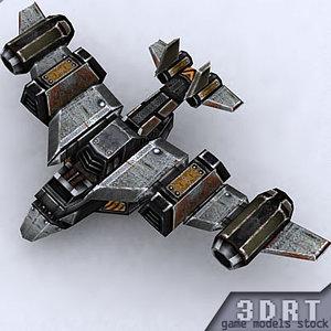 3d sci-fi bomber model