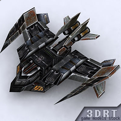 sci-fi bomber 3d model