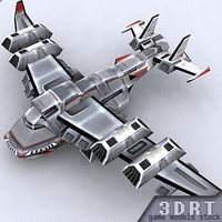 3ds max sci-fi bomber aircraft games