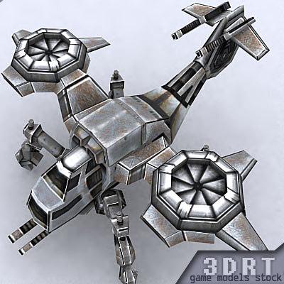 3ds max sci-fi gunship