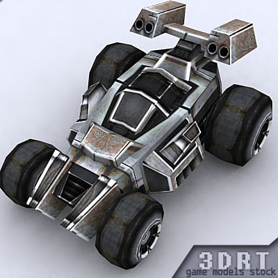 sci-fi jeep 3d model