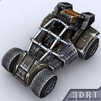 3d model sci-fi jeep