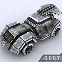 3d sci-fi jeep