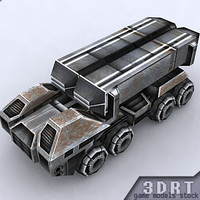 sci-fi vehicle games 3d model