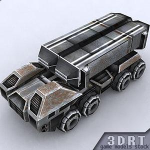 sci-fi vehicle games 3d model