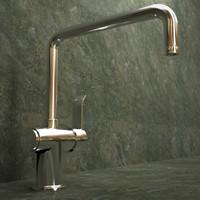 3d model santos modern faucet