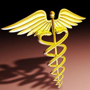 3ds max caduceus symbol medical