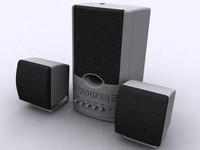 subwoofer speaker 3d max