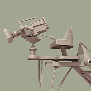 movie camera crane 3d model