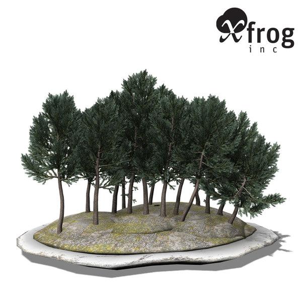 xfrogplants bonsai white spruce 3d 3ds