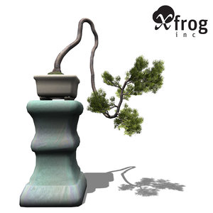xfrogplants bonsai japanese white pine 3d 3ds