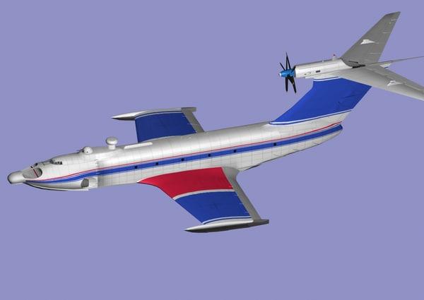 3d model orlenok ekranoplans aircraft