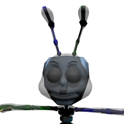 free boned ant 3d model