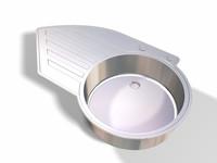 modern sink basin 3d 3ds