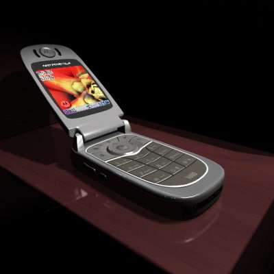 3d model motorola v600 cell phone