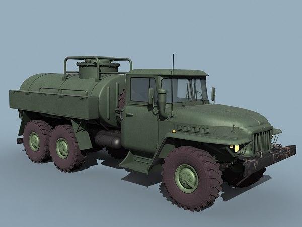 3ds max ural fuel bowser