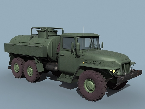 3ds max ural fuel bowser