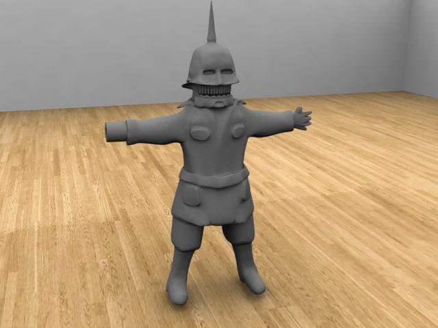 3d model torch puppet master