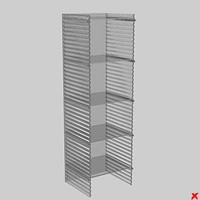 glass shelves 3d max