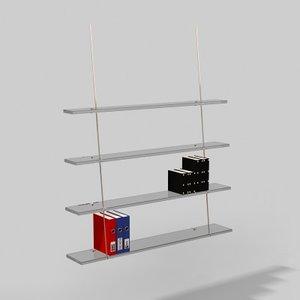 3d model of shelves