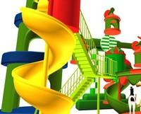 theme park carousel 3d model
