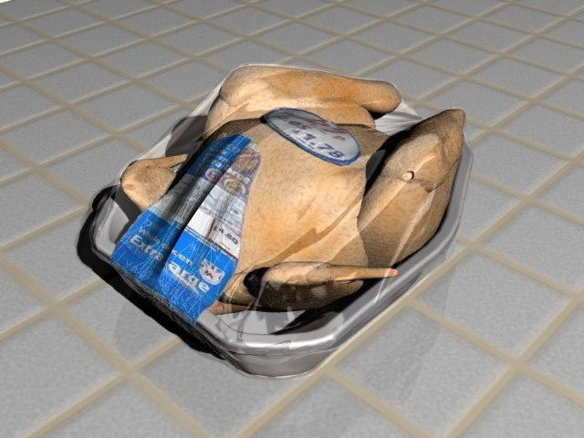 free chicken 3d model