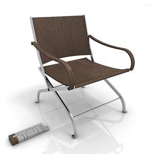 3d model flexform carlotta poltroncina chair