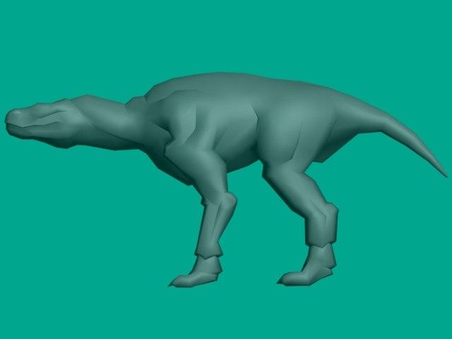3d creature dinosaur model