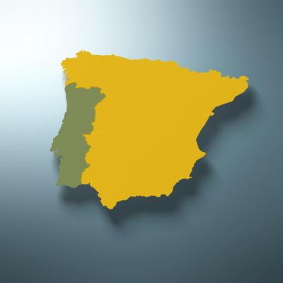 Map Of Portugal Spain.Maya Portugal Spain Land