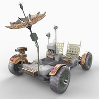 apollo lunar rover vehicle 3d model