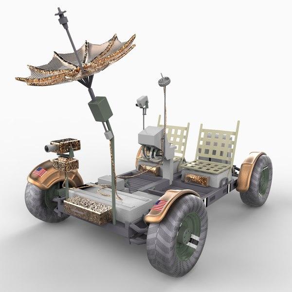 apollo lunar rover vehicle 3d model