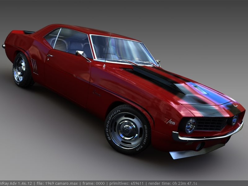 3d model 1969 chevrolet camaro chevy