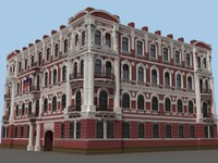 3d model consulate fasades city