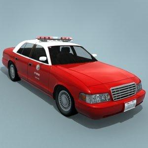 3d model of car lafd