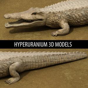 3d crocodile alligator model