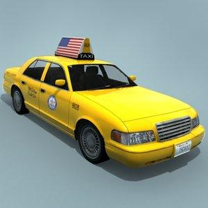 taxi car 3d max