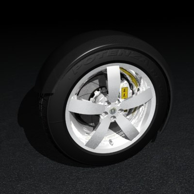 mag wheel 3d max